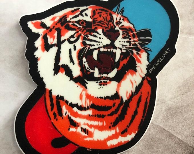 """TigerPill 3"""" x 3"""" diecut sticker"""