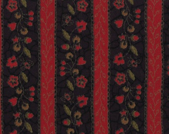 """Kathy Schmitz's Red and Black stripe fabric part of the """"Bits and Pieces""""line. ."""