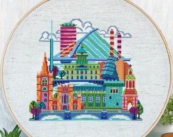 Pretty Little Dublin - Satsuma Street Modern Cross Stitch Pattern PDF - Instant download