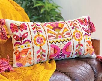 Heat Wave - Satsuma Street - modern folk cross stitch pattern - Instant download PDF