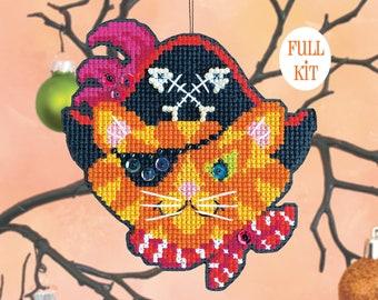 KIT - One-Eyed Jack - Satsuma Street Halloween Ornament cross stitch kit