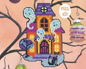 KIT - House Guests - Satsuma Street Halloween Ornament cross stitch kit