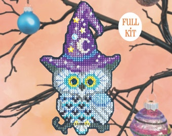 KIT - Wise Guy - Satsuma Street Halloween Ornament cross stitch kit