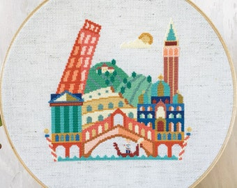 Pretty Little Italy - Satsuma Street Modern Cross stitch pattern PDF - Instant download