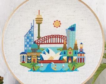 Pretty Little Sydney - Satsuma Street Modern Cross stitch pattern PDF - Instant download