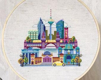 Pretty Little Berlin - Satsuma Street Modern Cross Stitch Pattern PDF - Instant download