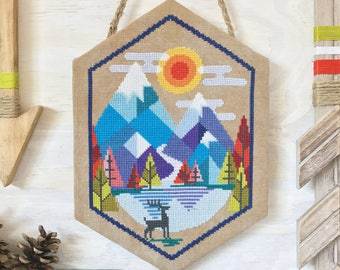 Alpine - printed version - Satsuma Street modern cross stitch pattern