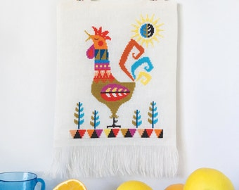 Good Morning! - Rooster - Satsuma Street modern cross stitch pattern PDF - Instant download