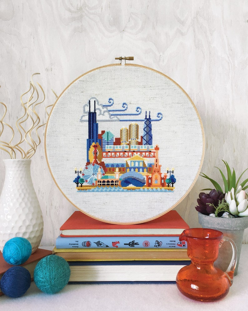 Pretty Little Chicago  Satsuma Street Modern Cross stitch image 0