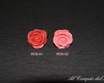 Resizable resin flower ring