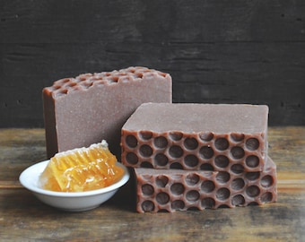 Golden Honey Soap | Beeswax + Goat Milk Handmade Soap, Handcrafted Cold Process Soap Bar, Homemade Honey Soap, Sweet Scented Soap, Soap Gift