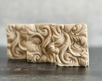 Soap Pack w/ 3 Tropical Waves Soaps w/ Artisan Bath & Body's Coconut + Cashmere Scent   Ready to Ship   Guest Size   Rustic Look   Hand Wash