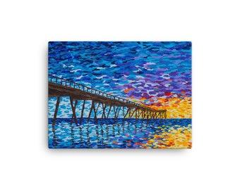 Juno Pier Sunset Canvas Print