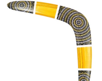 "Boomerang ""Golden Sun"", Outdoor Game, Personalized wooden boomerang, wooden gifts, Anniversary gift, Bumerang kaufen"