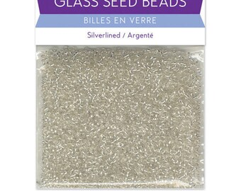 Craft Medley Glass Seed Beads Silver lined
