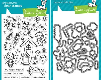 Lawn Fawn Frosty Fairies Friends Photopolymer Clear Stamps