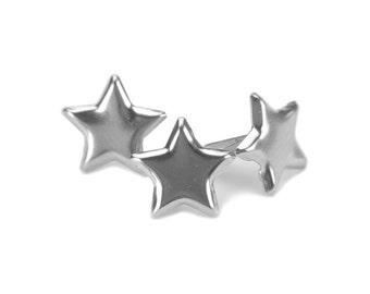Painted Metal Paper Fasteners Stars (Brads) 50/Pkg