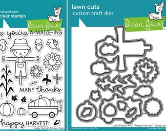 Lawn Fawn Happy Harvest Photopolymer Clear Stamps