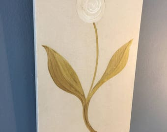 Medieval Style Flower Panel (White)