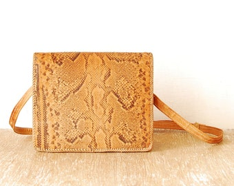 Yellow Leather Woman s Bag, Vintage Snake Leather Handbag, Handmade Woman  Purse, Retro Genuine Leather Woman Shoulder Bag 7ec6cc14e6