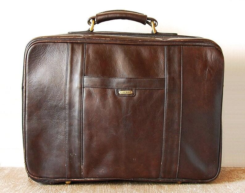 83209a5ed7b Sac besace voyage en cuir brun Hidesign haut anse bandoulière