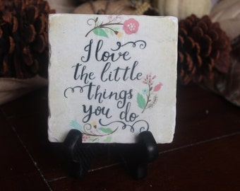 I love the little things you do tile and stand