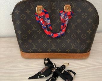 DIY purse charm kit Silk Scarf Twill Handbag bandeau bandeaux Handle Wrap  Purse Scarves Hair Bow Ribbon ee5dc342b6aae