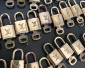 SPECIAL Spring Sale Louis Vuitton padlock and one key lock brass gold brass