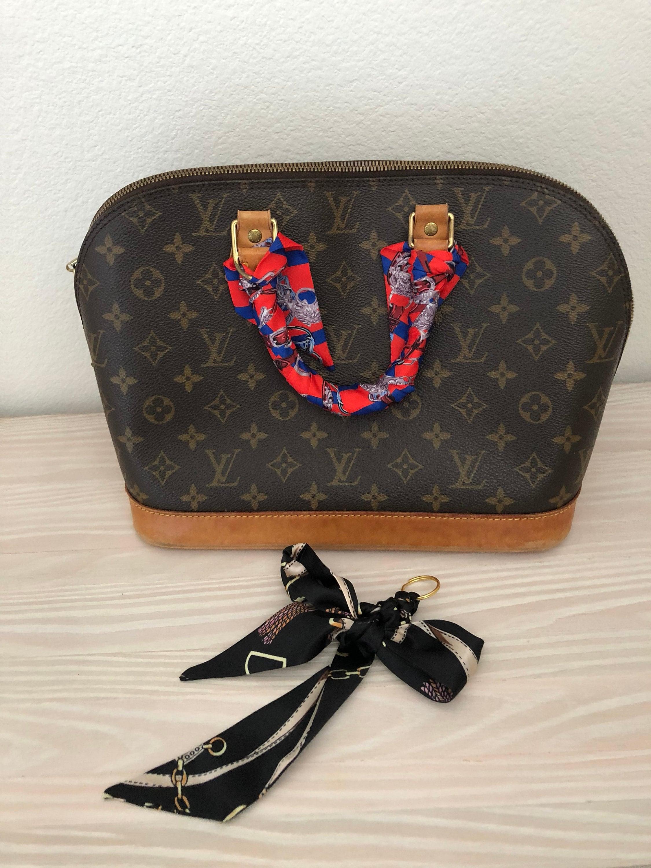 Silk Twilly Scarf Twill Handbag Handle Wrap Purse Scarves Hair Bow Ribbon Cover