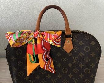Silk Twilly Scarf Twill Handbag bandeau bandeaux Handle Wrap Purse Scarves Hair Bow Ribbon #48