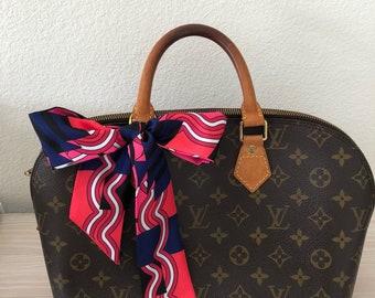 Silk Twilly Scarf Twill Handbag bandeau bandeaux Handle Wrap Purse Scarves Hair Bow Ribbon #46