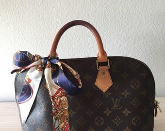 Silk Twilly Scarf Twill Handbag bandeau bandeaux Handle Wrap Purse Scarves Hair Bow Ribbon #6