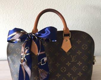 Silk Twilly Scarf Twill Handbag bandeau bandeaux Handle Wrap Purse Scarves Hair Bow Ribbon #12