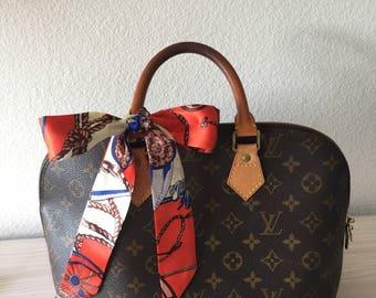 Silk Twilly Scarf Twill Handbag bandeau bandeaux Handle Wrap Purse Scarves Hair Bow Ribbon #11