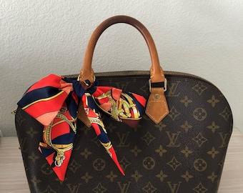 Silk Twilly Scarf Twill Handbag bandeau bandeaux Handle Wrap Purse Scarves Hair Bow Ribbon #42