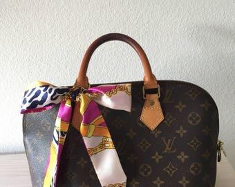 Silk Twilly Scarf Twill Handbag bandeau bandeaux Handle Wrap Purse Scarves Hair Bow Ribbon #8
