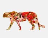 Cheetah No. 2, cheetah print, animal art print, animal wall art, animal nursery prints, art print