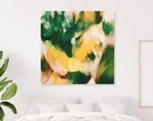 La Selva, Green abstract art, square abstract art, tropical abstract art, tropical artwork, large art prints