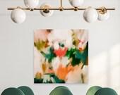 Lita, Large Abstract Art Print, abstract square print, tropical abstract art, green abstract