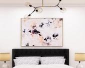 Plumas, Large Giclee Abstract Print, 15x10-60x40 purple abstract, calm abstract, serene wall art