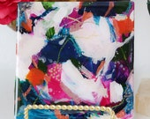 Ceramic No.2, small abstract painting, original art, green abstract painting
