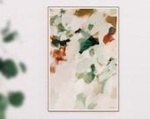 Dionne- large mint green wall art - neutral abstract art print - earthy wall art- serene green abstract - 15x10-60x40