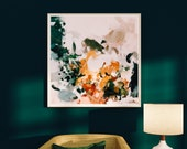 Aspen, Large Abstract Art Print, abstract square print, blue abstract