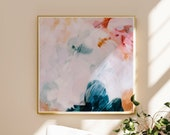 Jovie, Pink and blue abstract art, art prints, prints wall art, living room large wall art, bedroom wall art prints, extra large wall art