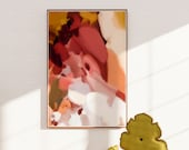 Warm tone wall art, red artwork, art print, abstract wall art,  bold wall art - Amory