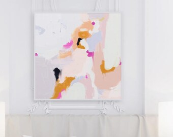 Pink,6x6-36x36in, Giclee Abstract Fine Art Print, pink abstract painting