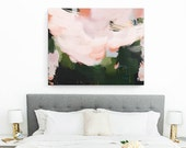Flora, 15x12-40x32in, Giclee Abstract Fine Art Print, abstract print, pink, green
