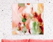 Zinnia, large giclee, print, Abstract Fine Art Print, boho wall decor, boho wall art,