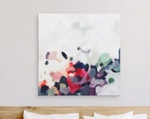 October, Extra Large Abstract Fine Art Print, abstract print, blue abstract, pink abstract, fall decor