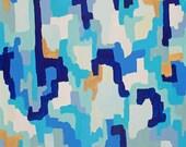 Hayley, Original Abstract Acrylic Painting, 20x30, large painting, blue painting, gold painting
